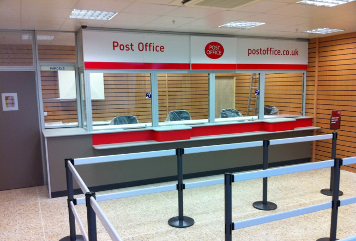 Post Office security glass