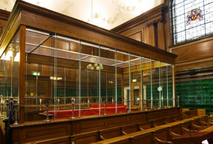 Courtroom security glass